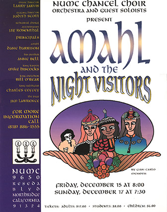 Amahl and the Night Visitors flyer